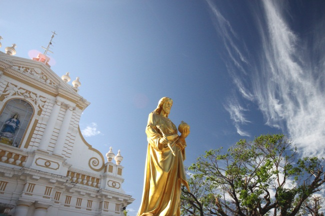 travel photo essay churches of pondicherry outside the church of our lady of the immaculate conception