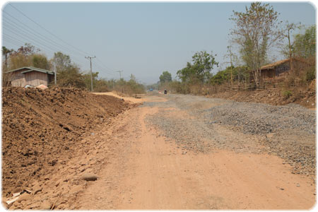 Bad roads in the Sekong area