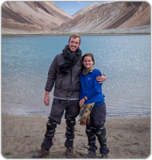 Stu and Eloise in Pangong Lake, Northern India