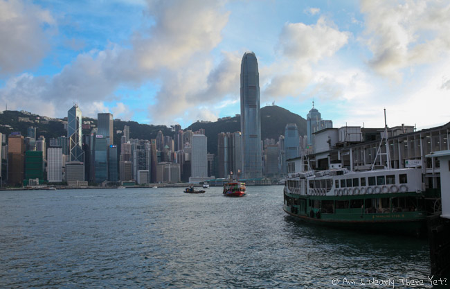 The Star Ferry and the view of Hong Kong island
