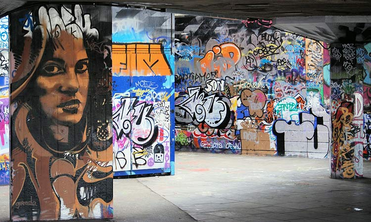 south bank graffiti