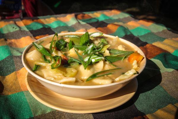 Thenthuk- my favourite Tibetan dish!