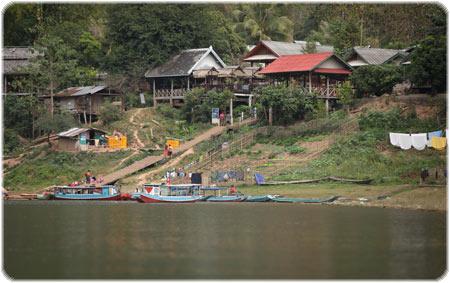Muang Ngoi Neua's boat landing