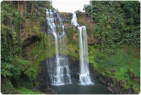 The beautiful Tat Yuang waterfall