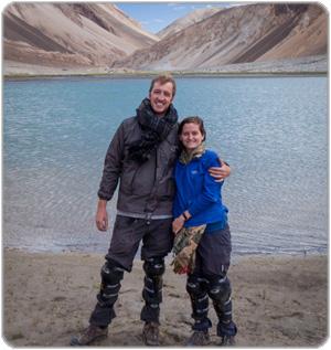 Stu and Eloise in Pangong Lake, Northern India