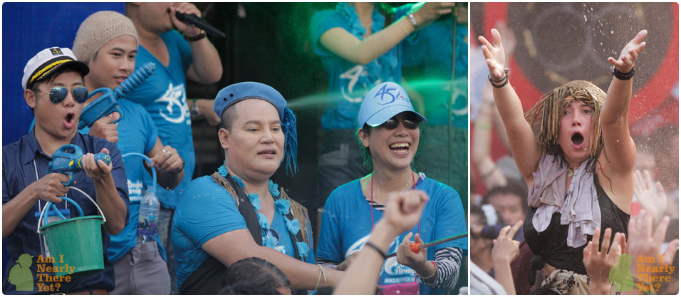 Party action at the Bangkok Airlines stage