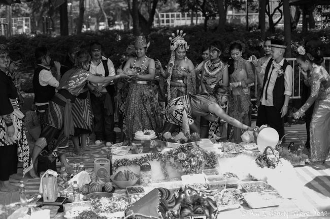 Indonesian marriage celebrations in Victoria Park