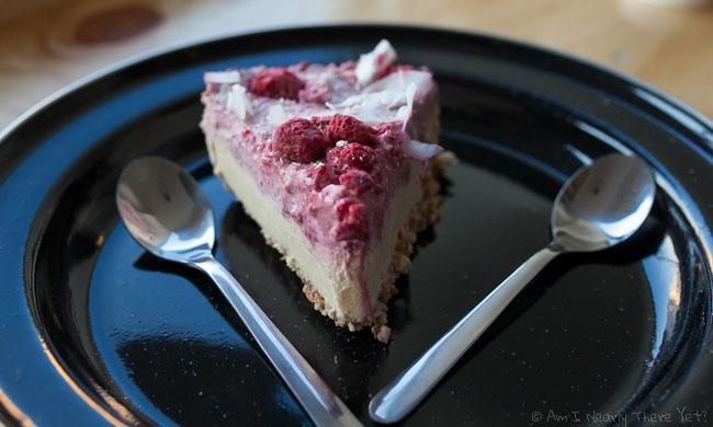 Vegan raspberry cheesecake!
