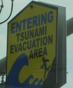 tsunami evacuation area