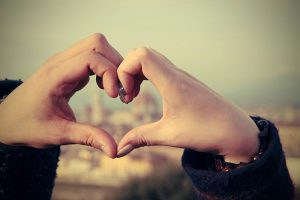 Hand love sign