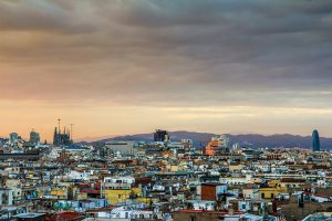catalonia sunset