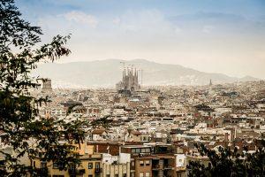 scene over barcelona