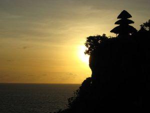 bail temple sunset