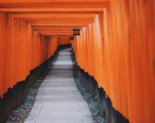 japanese temple walkway
