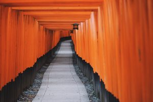 japanese temple walkway