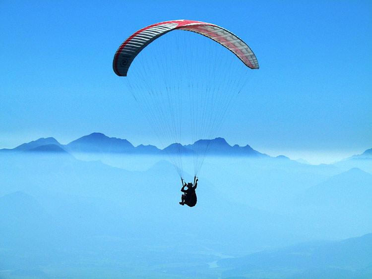 paragliding antartica