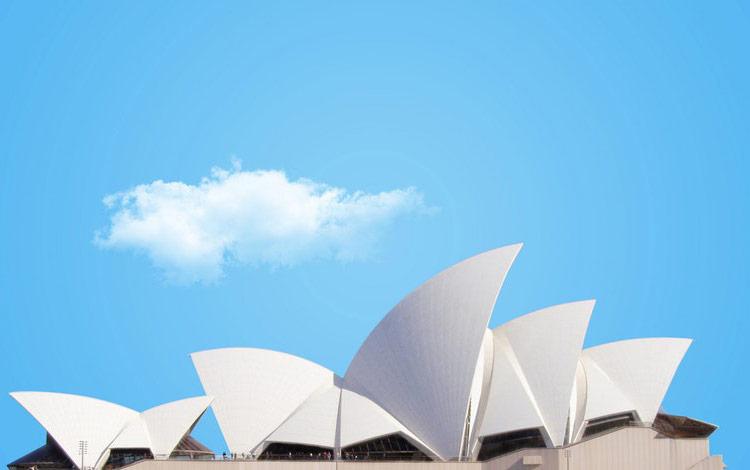 sydney opera house sky