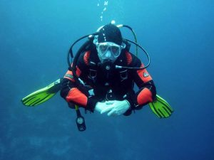 scuba diver canary islands