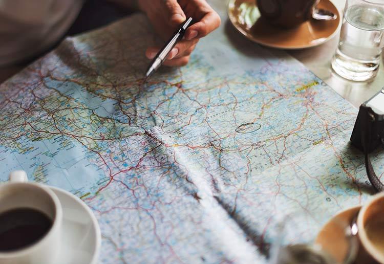 map roadtrip